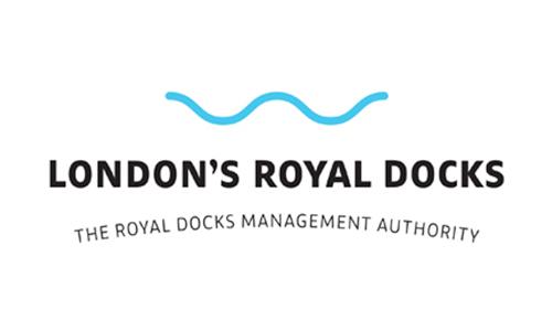London's Royal Docks Logo | Albert Island